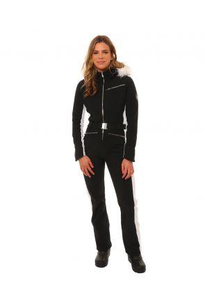 XTM Cortina Womens Snow Suit Black White Front