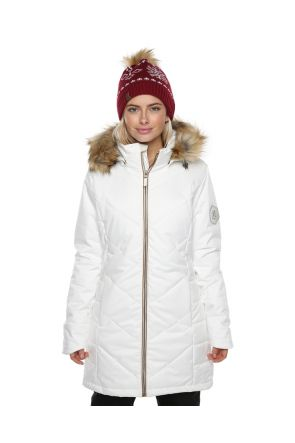 XTM Courcheval Womens Long Snow Jacket White Front