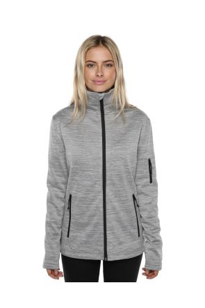 XTM Crusade Ladies Snow Fleece Jacket Light Grey 2019 Front