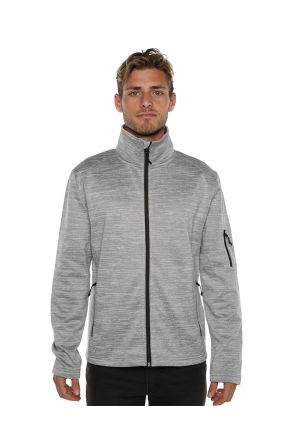 XTM Crusade Mens Snow Fleece Jacket Light Grey 2019 Front