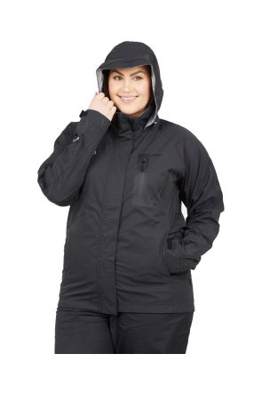XTM FEATHERTOP WOMENS PLUS SIZE RAIN JACKET BLACK SIZES 18-26
