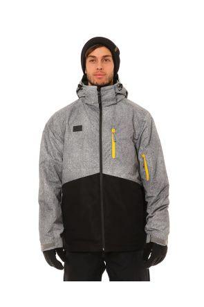 XTM Finn Mens 3 in 1 Snow Jacket Black Grey Front