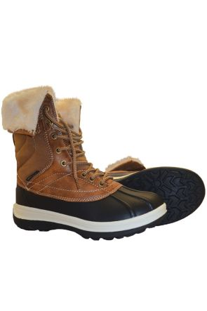 XTM Georgie Womens Waterproof Apres Snow Boots 2019 Brown Pair