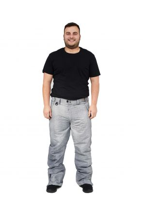 XTM Glide II Mens Plus Size Ski Pant Grey Denim Sizes 2XL-6XL FRONT