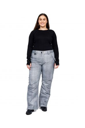 TM Glide II Unisex Plus Size Ski Pant Grey Denim Sizes Sizes 2XL - 7XL Front