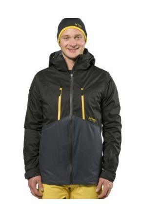 XTM Granite Two Shell Mens Ski Jacket Charcoal front
