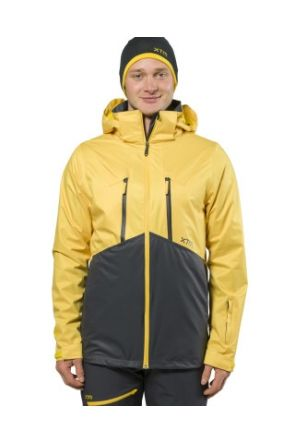 XTM Granite Two Shell Mens Ski Jacket Yellow 2019 front