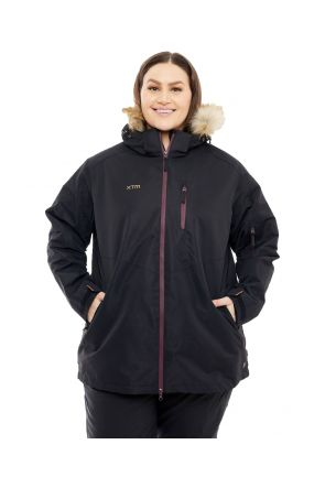 XTM Jindy 3 in 1 Womens Plus Size Ski Jacket Black sizes 20-28