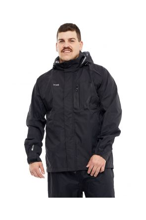 XTM Kakadu Mens Plus Size RAIN Jacket Black