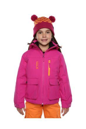 XTM Kamikaze Kids Ski Jacket Berry Pink Front