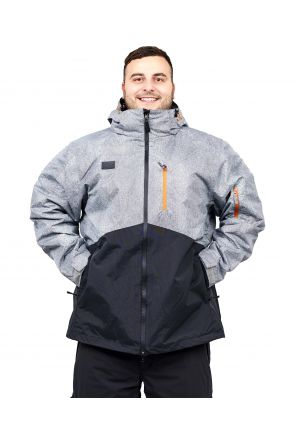 XTM Mason Mens 3 in 1 Plus Size Ski Jacket 2019 Grey Denim 2XL-7XL FRONT