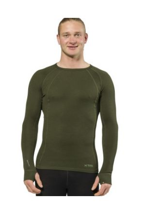 XTM Merino Wool Mens Thermal Top Forest 2019 front