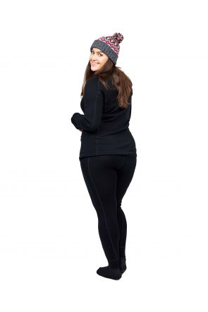 XTM Siberia Merino Wool Plus Size Womens Thermal Pants Black XL-7XL Back