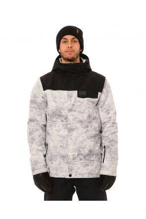 XTM Miles Mens Snow Jacket Grey Concrete Front