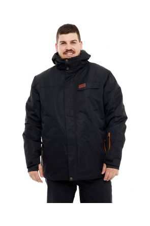 XTM Montana Mens Plus Size Ski Jacket Black Sizes 3XL-7XL
