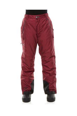 XTM Ninja Kids Teens Snow Pants Burgundy Front