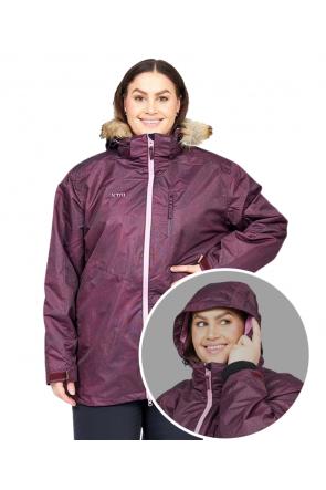 XTM Olena 3 in 1 Womens Plus Size Ski Jacket Shiraz Denim Front