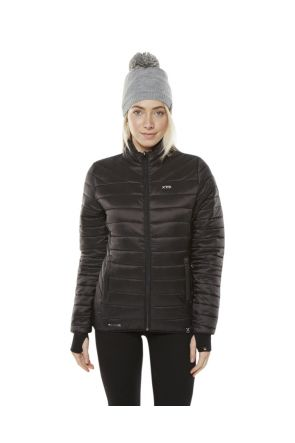 XTM Peppin Womens Puffer Jacket Black 2019 Front