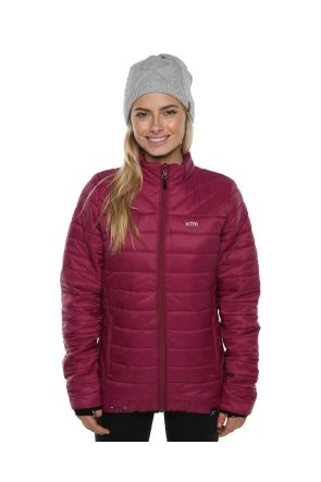 XTM Peppin Womens Puffer Jacket Burgundy 2019 Front