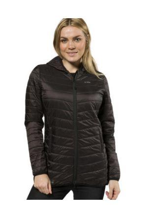XTM Peppin Womens Puffer Longline Jacket Black 2019 front