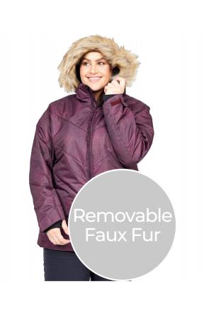 XTM Pia Womens Plus Size Ski Jacket Shiraz Denim Sizes 18 - 28 FRONT