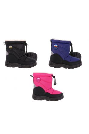 XTM Puddles Kids Apres Snow Boot Sizes 19-30 Pink Black Blue