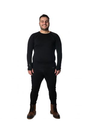 XTM SIBERIA MERINO WOOL UNISEX PLUS SIZE THERMAL TOP BLACK XL-7XL