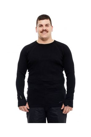 XTM Siberia Merino Wool Unisex Plus Size Thermal Top Black XL-7XL Front