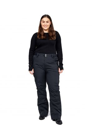 XTM Smooch II Womens Plus Size Ski Pant Black Front