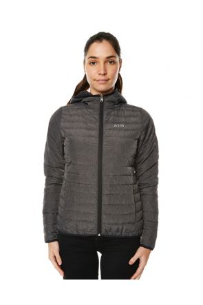 XTM Stuff-It Womens Puffer Jacket Dark Grey Marle Front