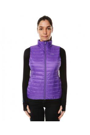 XTM Stuff-It Womens Puffer Vest Purple 2019 Front