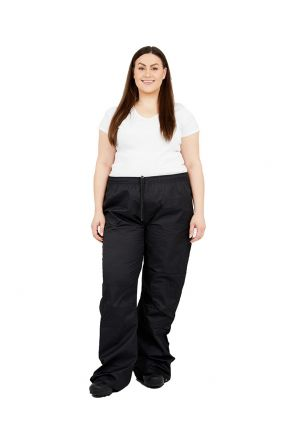XTM STYX RAIN PLUS SIZE RAIN PANT BLACK UNISEX/WOMENS SIZES 2XL - 7XL FRONT