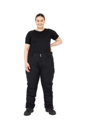 XTM Switzerland  Womens Plus Size Ski Pant Black Front
