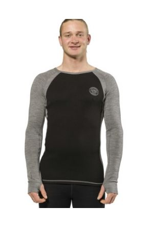 XTM Vance Merino Wool Mens Thermal Top Black 2019 front