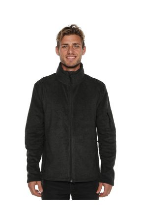 XTM Voyage Mens Snow Fleece Jacket Dark Grey Marle Front