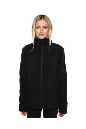 XTM Voyage Womens Snow Fleece Jacket Black Front