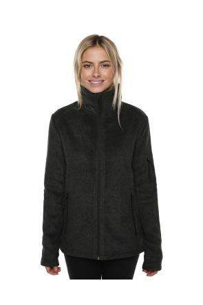 XTM Voyage Womens Snow Fleece Jacket Dark Grey Marle Front