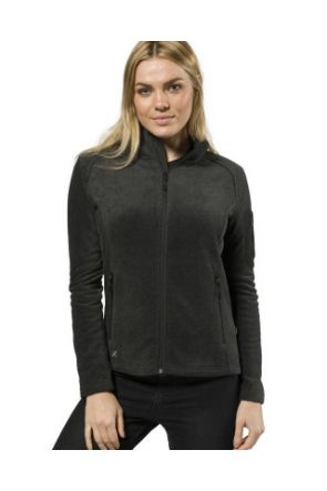 XTM Wildcat Ladies Snow Fleece Jacket Dark Grey Marle 2019 front