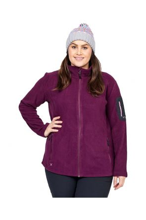 XTM Wildcat Ladies Plus Size Fleece Zip Jacket Shiraz Sizes 18-26 FRONT
