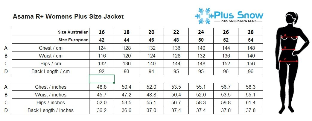Raiski Ascalon R+ Womens Plus Size Ski Jacket