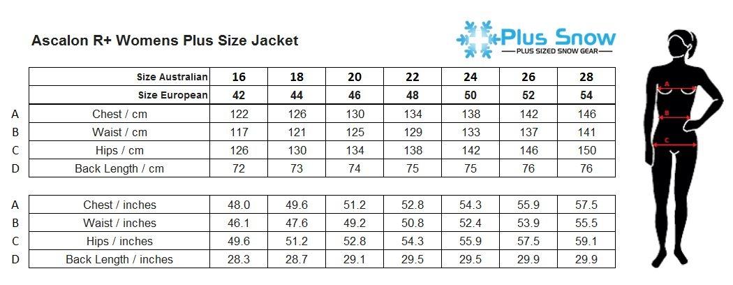 Raiski Ascalon R+ Womens Plus Size Ski Jacket