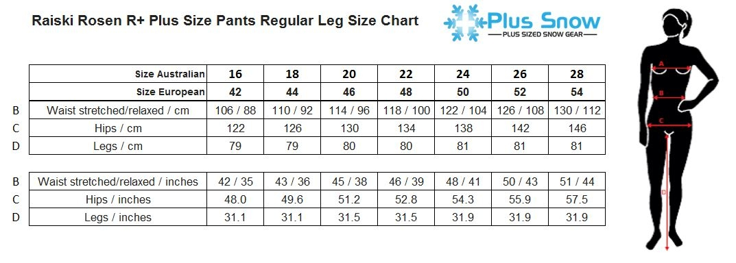 Raiski Rosen R+ Womens Plus Size Short Pants Size Chart
