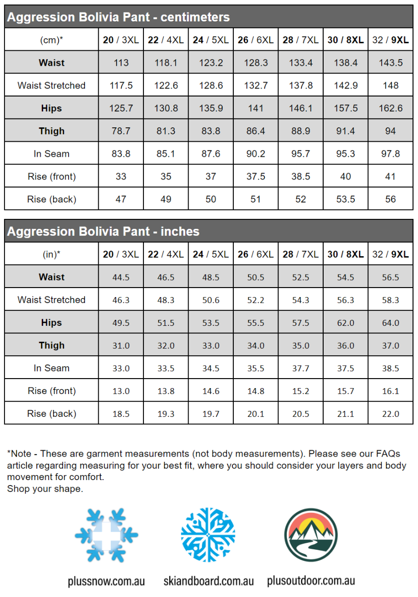 Aggression Bolivia Womens Plus Size Shell Pants Unisex Sizes 3XL - 9XL