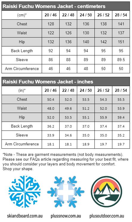 Fuchu Size Chart