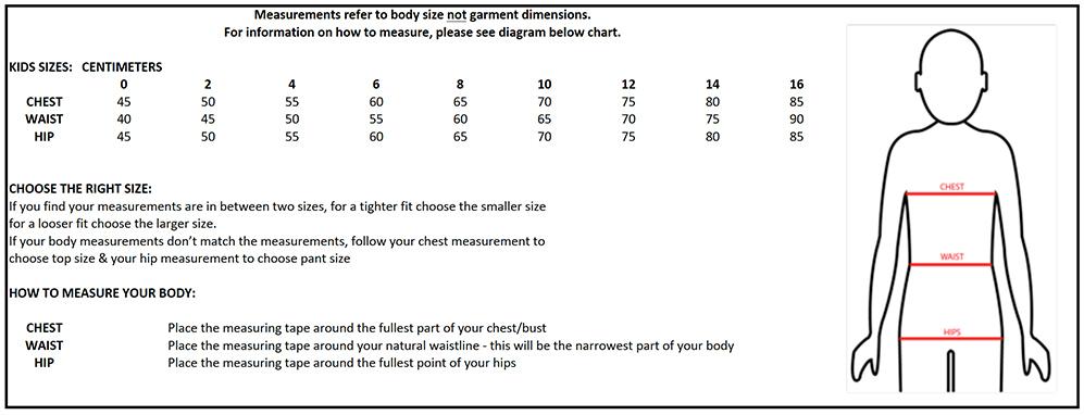 XTM Kids Body Chart